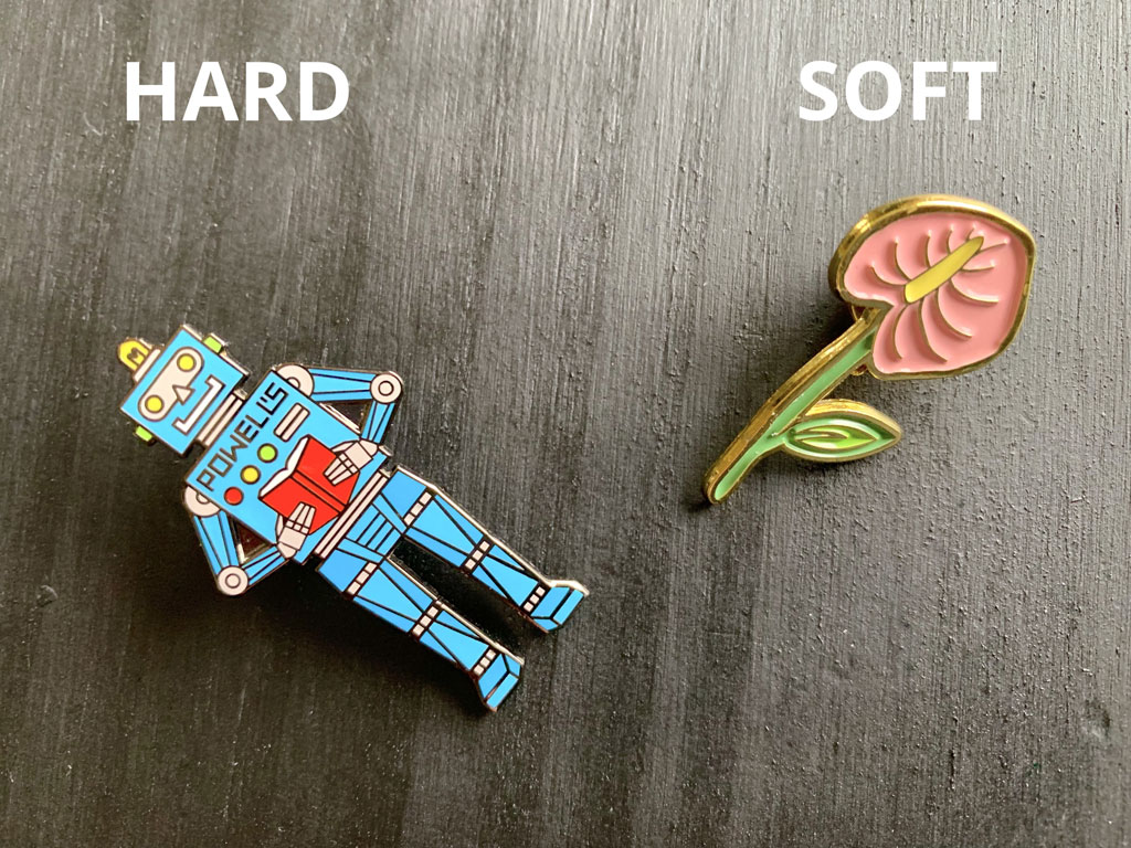Hard vs Soft Enamel Pins: Learn All the Differences